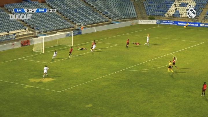 Sofia Jakobsson's first goal for CD Tacón