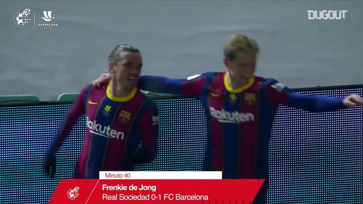 برشلونة يهزم ريال سوسيداد بركلات الترجيح ويتأهل لنهائي كأس السوبر