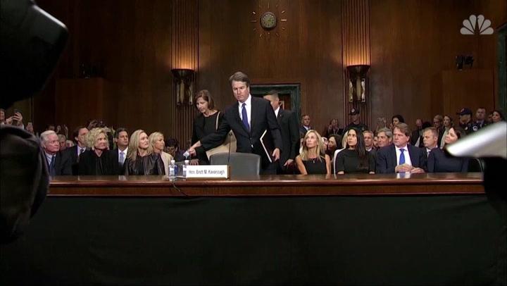 The Latest: Senate panel sets 12:30 p.m. vote on Kavanaugh