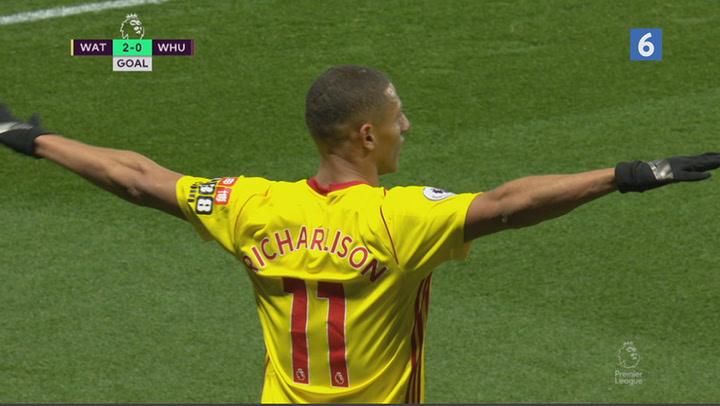 Watford fordobler føringen og sender West Ham mod nederlag