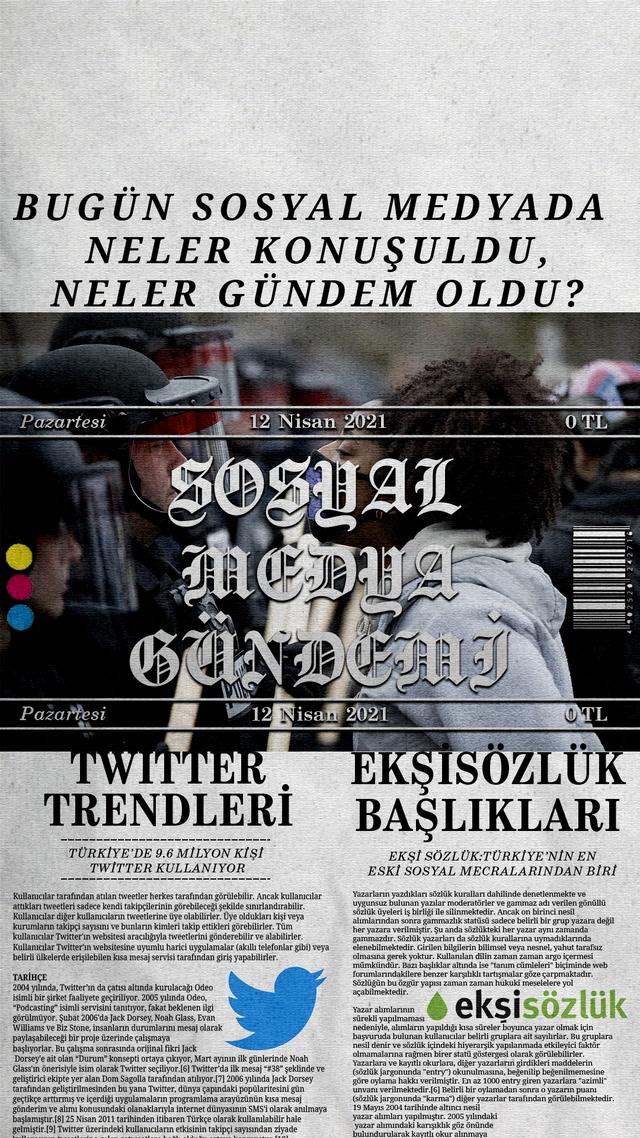 Sosyal medyayı sallayanlar - 12 Nisan