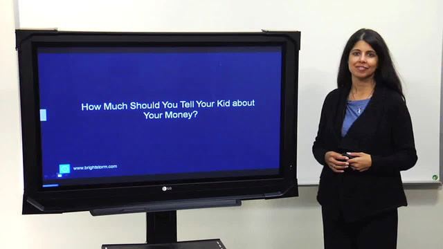 For parents: How much should you tell your kid about money?
