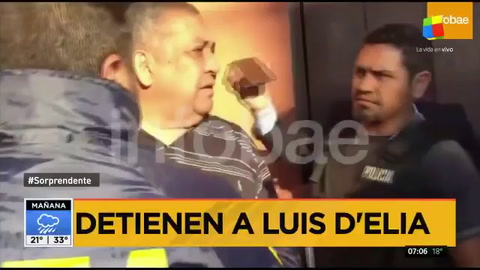 Qué gritó DElía cuando lo llevaron detenido de su casa