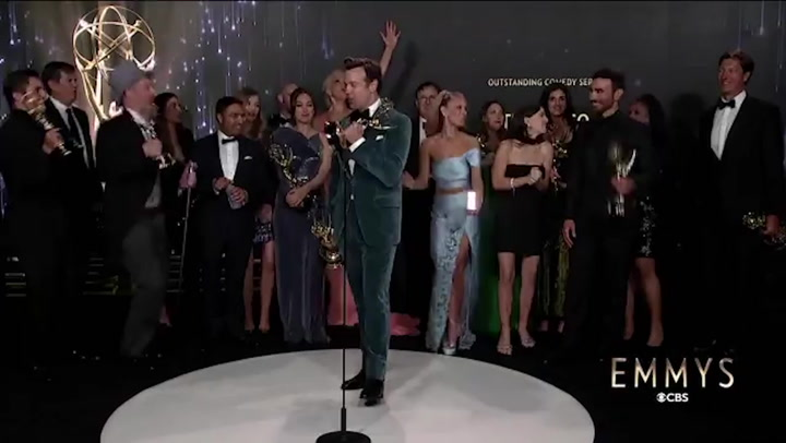 'He's every-f***ing-where': Ted Lasso cast sing Roy Kent chant after Emmys win