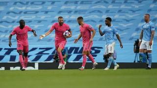 Benzema empata el partido ante el Manchester City con un gol de cabeza