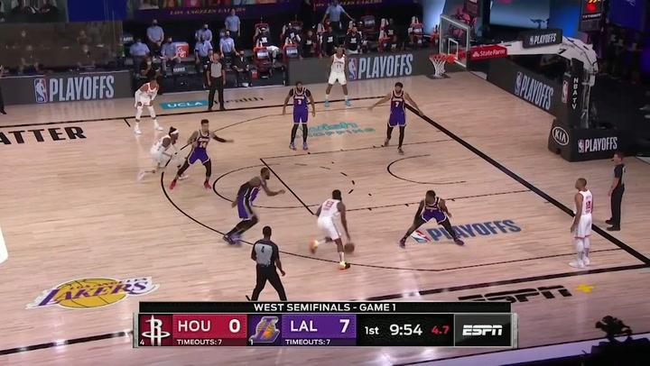 James Harden, jugador destacado de la jornada de la NBA (4/09/2020)