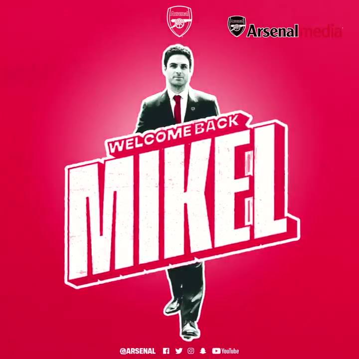 El Arsenal anuncia a Arteta