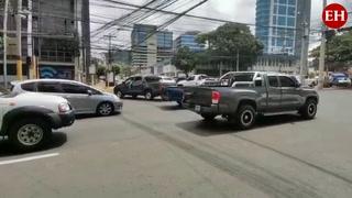 Semáforos en mal estado generan preocupación en el bulevar Morazán