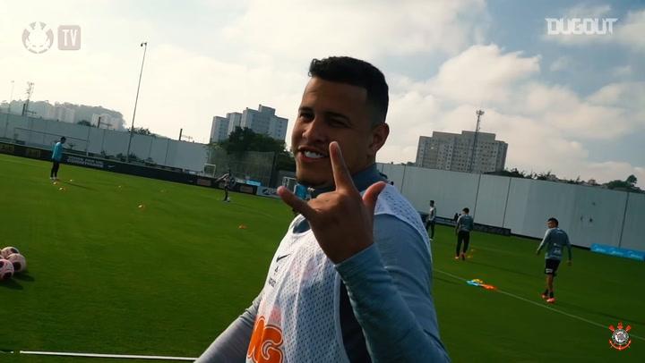 Corinthians' training session at CT Joaquim Grava