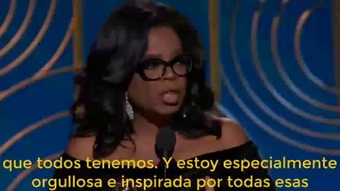 El emotivo discurso de Oprah Winfrey contra el acoso sexual
