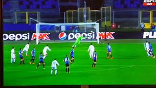 Mendy anotó un golazo para el Real Madrid ante el Atalanta