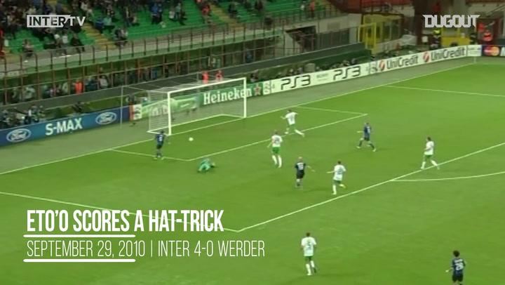 Malam Eropa: Eto'o Ukir Hat-Trick Vs Werder Bremen