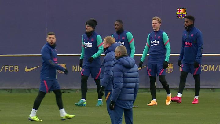 Última sesión de entrenamiento antes de desplazarse a Granada
