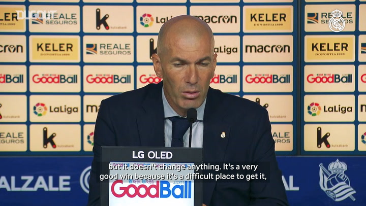 Zidane on Real Sociedad triumph: 'It's a deserved win'
