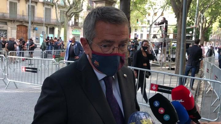El Barça en la ofrenda a Rafael Casanova por la Diada