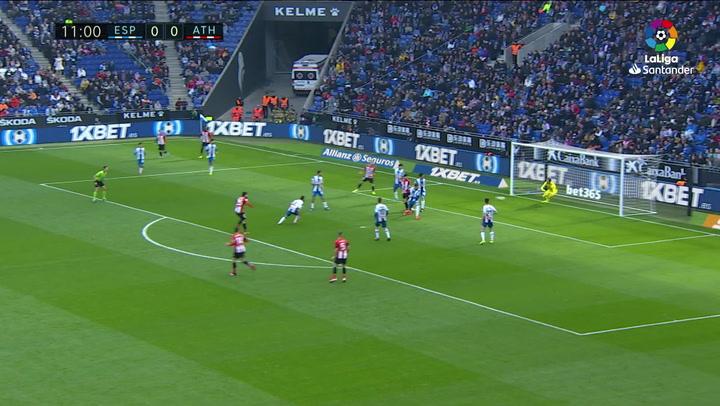 Gol de Villalibre (0-1) en el Espanyol 1-1 Athletic