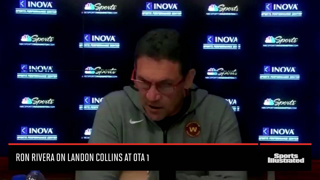 Washington Coach Ron Rivera on Landon Collins OTA