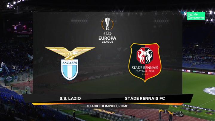 Europa League: Resumen y Goles del Partido Lazio-Rennes