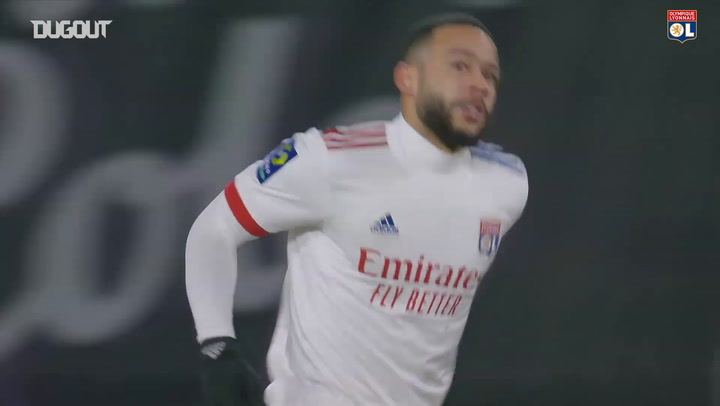 Memphis Depay's skillful finish vs Rennes