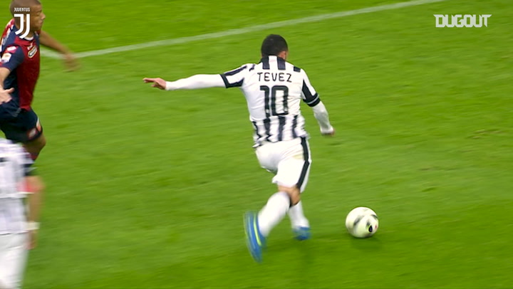 Tevez scores thunderbolt against Genoa