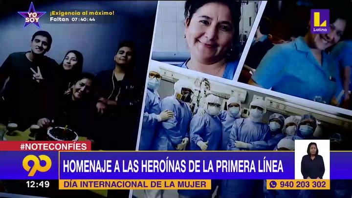 Homenaje a las heroínas de la primera línea en el Día de la Mujer