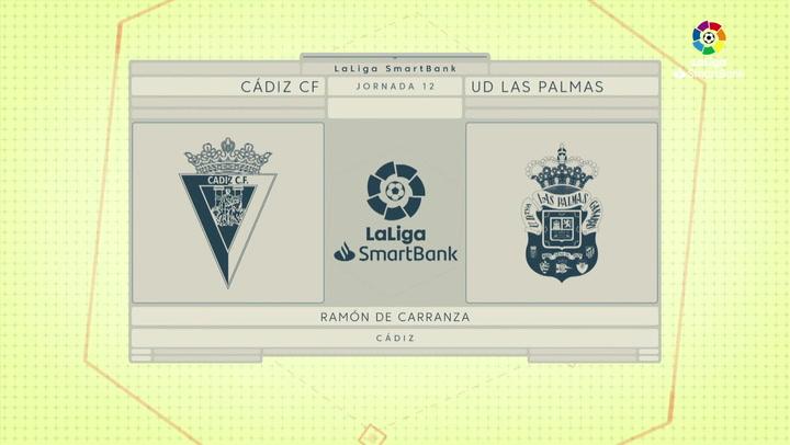 LaLiga SmartBank (J12): Resumen y goles del Cádiz 2-0 Las Palmas