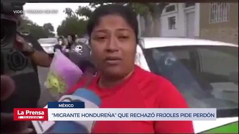 Hondureña se disculpa por su critica a los frijoles y pide perdón a México