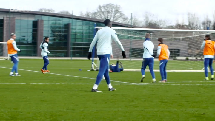 Timo Werner focus in Chelsea training
