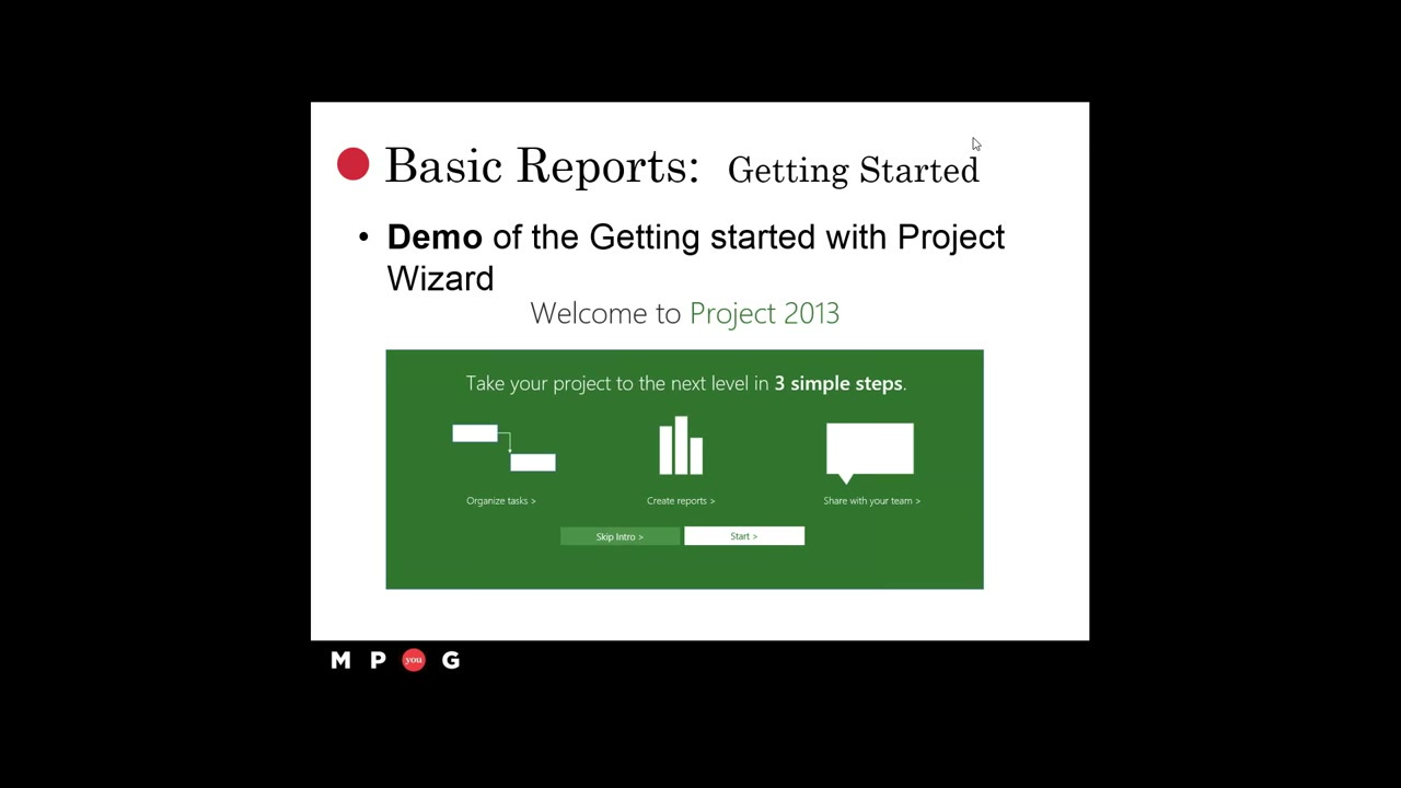 Microsoft Project Reporting Session 1