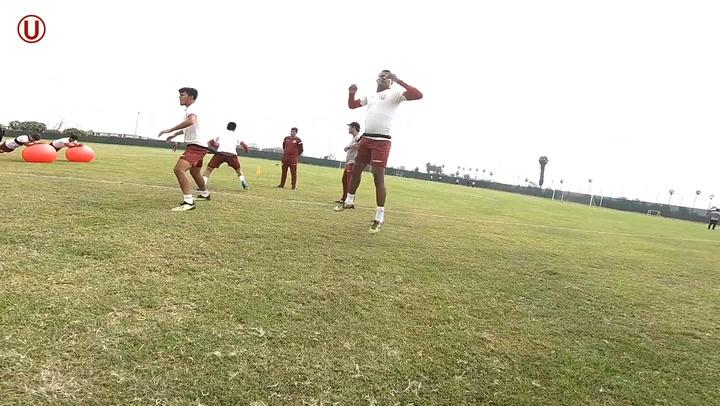 Fitness Training For Universitario Squad at Campo Mar