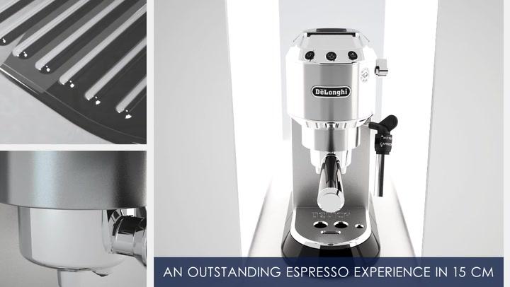 Preview image of DeLonghi Dedica Pump Manual Espresso Coffee Machin video