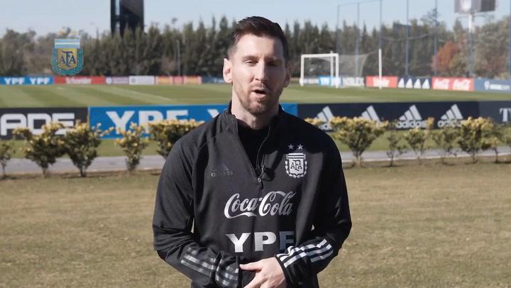 El capitán de Argentina, Lionel Messi, habló de cara a los próximos compromisos