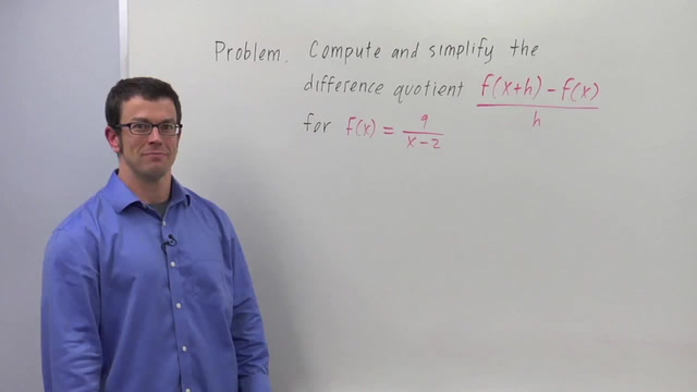 Computing Difference Quotients - Problem 2