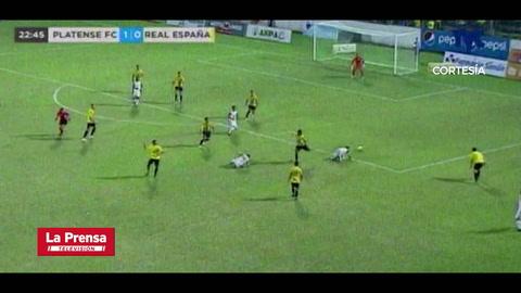 Devron García anota el 2-2 del Real España ante Platense