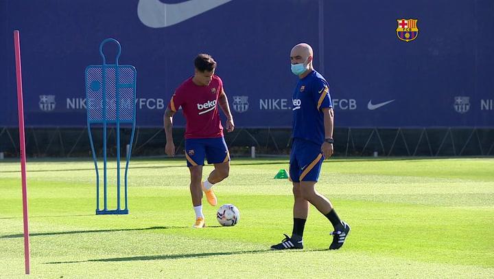 Entrenamiento del FC Barcelona tras la jornada de descanso