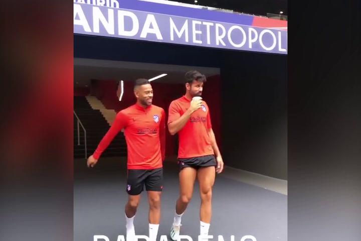 El Atlético, a punto para el partido contra el Celta