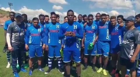 Selección mayor de Honduras le envía mensaje de apoyo a la Sub.20