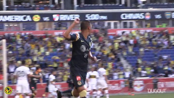 Paul Aguilar's goal and dance vs Boca Juniors