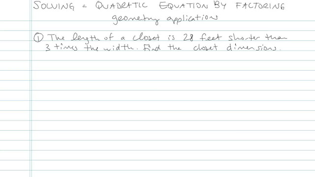 Solving Quadratic Equations by Factoring - Problem 12