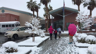 Las Vegas kids attend school in the snow