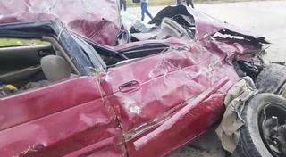 Cuatro personas heridas deja accidente de tránsito en anillo periférico de la capital