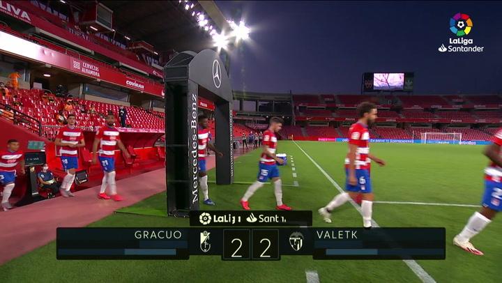 LaLiga Santander (J.34): Granada 2-2 Valencia