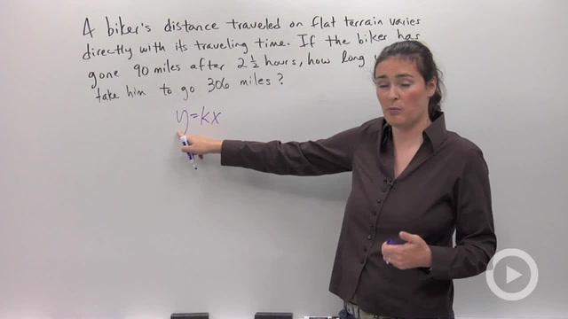 Direct Variation - Problem 2