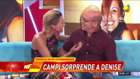 Campi sorprendió a Denis Dumas en Infama en San Valentín