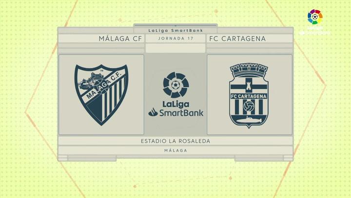 LaLiga SmartBank (J17): Málaga 1-2 Cartagena