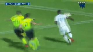Olimpia está derrotando 2-0 al Real de Minas en el estadio Nacional por la Jornada 10