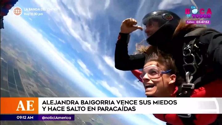 Alejandra Baigorria venció sus miedos y se lanzó en paracaídas
