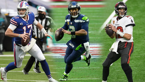What are the odds the Bills, Seahawks and Buccaneers advance in the NFL Playoffs?