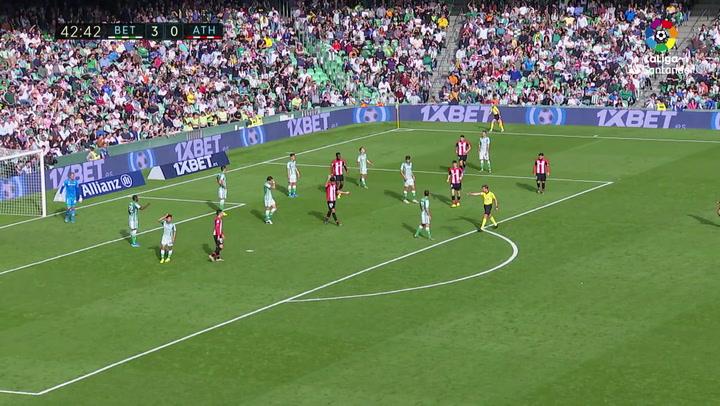 Gol 0301 Real Betis - Athletic Club J16 IÑAKI WILLIAMS