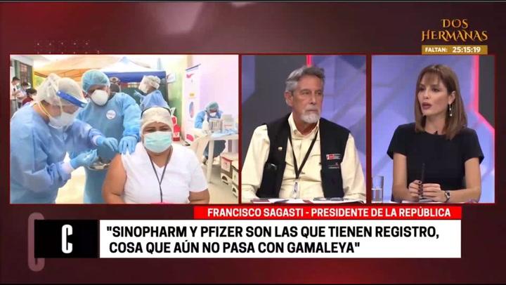 """Francisco Sagasti se opone a que privados vendan vacuna: """"No queremos que el que tiene plata se vacune y el que no, no"""""""